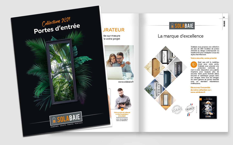 catalogue solabaie réalisation du studio graphique izard